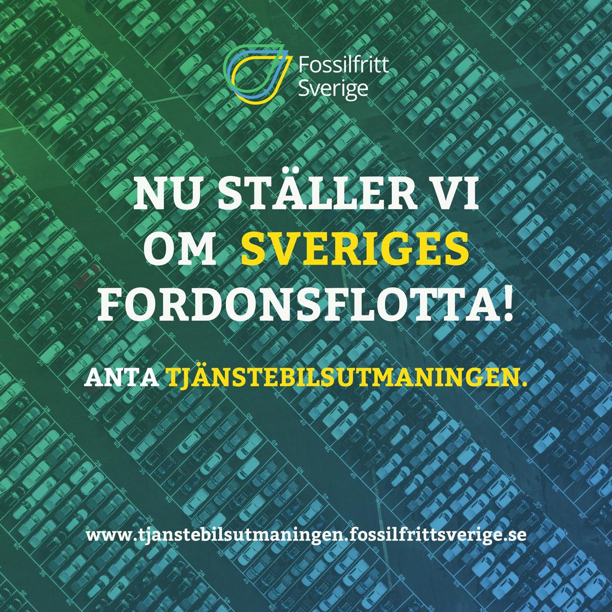 Fossilfritt Sverige Tjänstebilsutmaningen