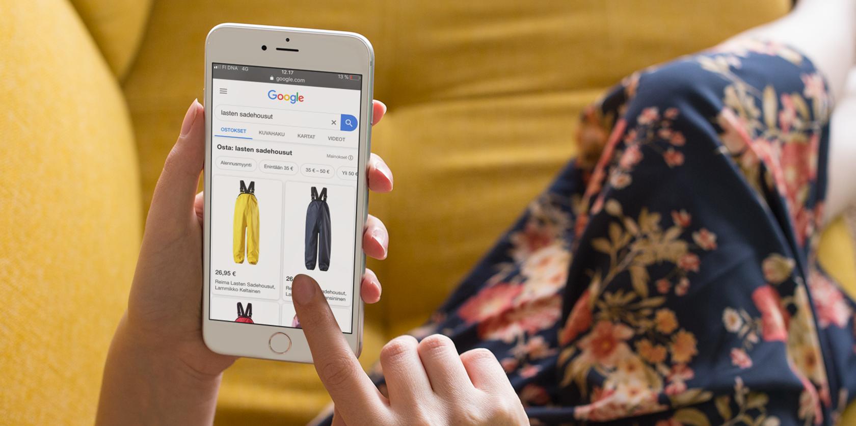 Google Shopping puhelimella