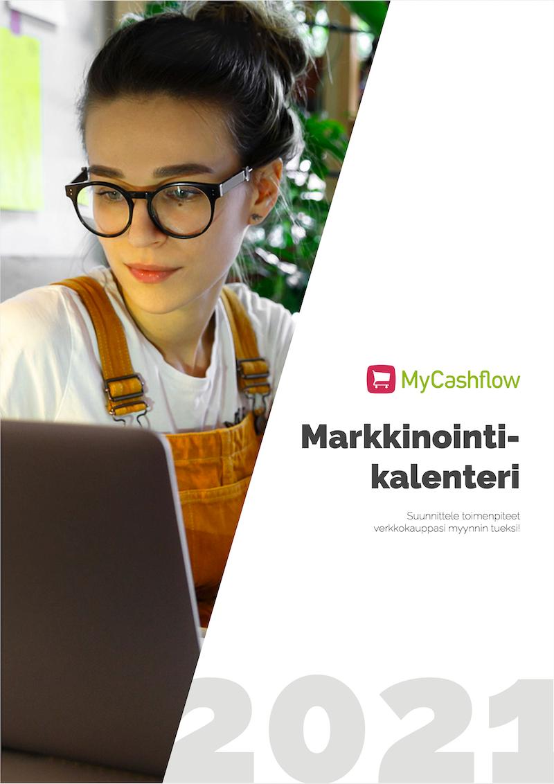 Kansikuva MyCashflow'n markkinointikalenterista 2021