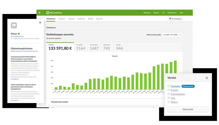 Verkkokaupan perustaminen käy helposti MyCashflow'n avulla