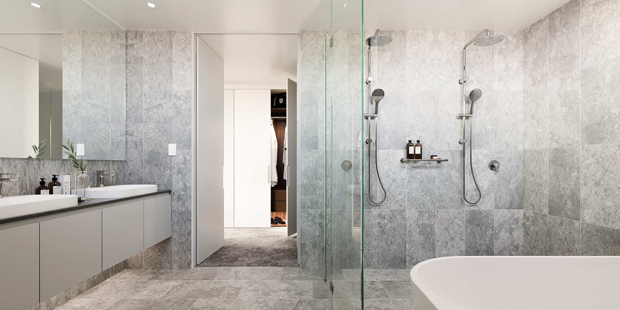 Bathroom CGI of Omnia Cronulla apartments