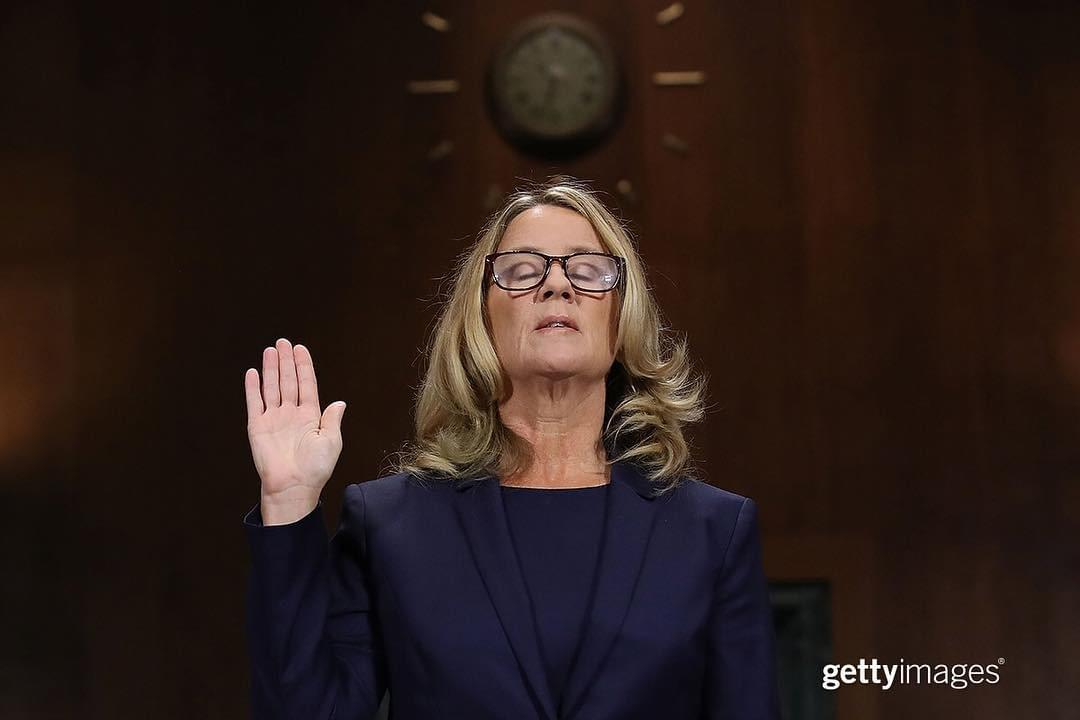 Dr. Christine Blasey Ford testifies in front of the Senate Judiciary Committee