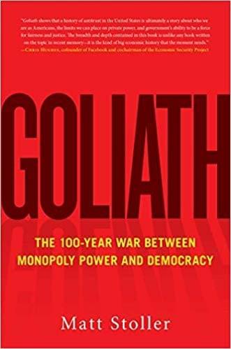 Goliath book by Matt Stoller