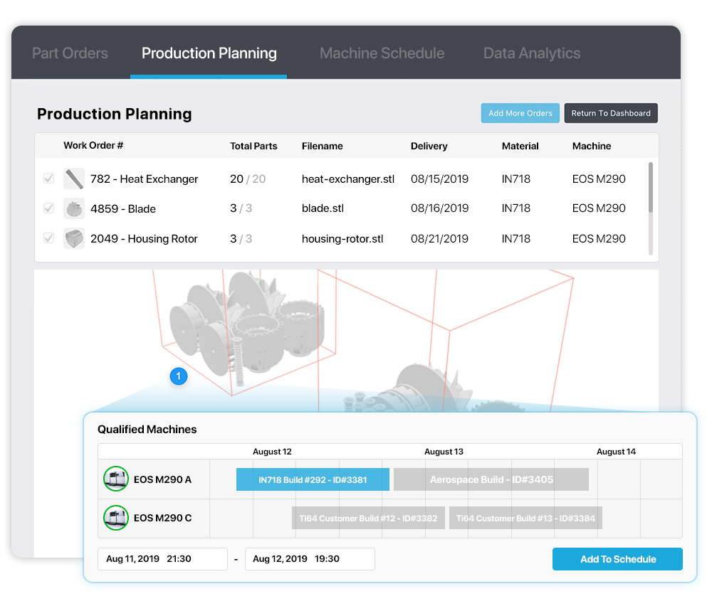 Link3D Production Planning & Scheduling System
