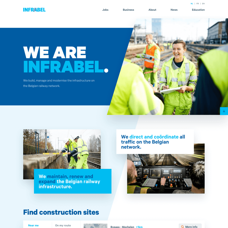 Preview of the work Superlab did for Infrabel