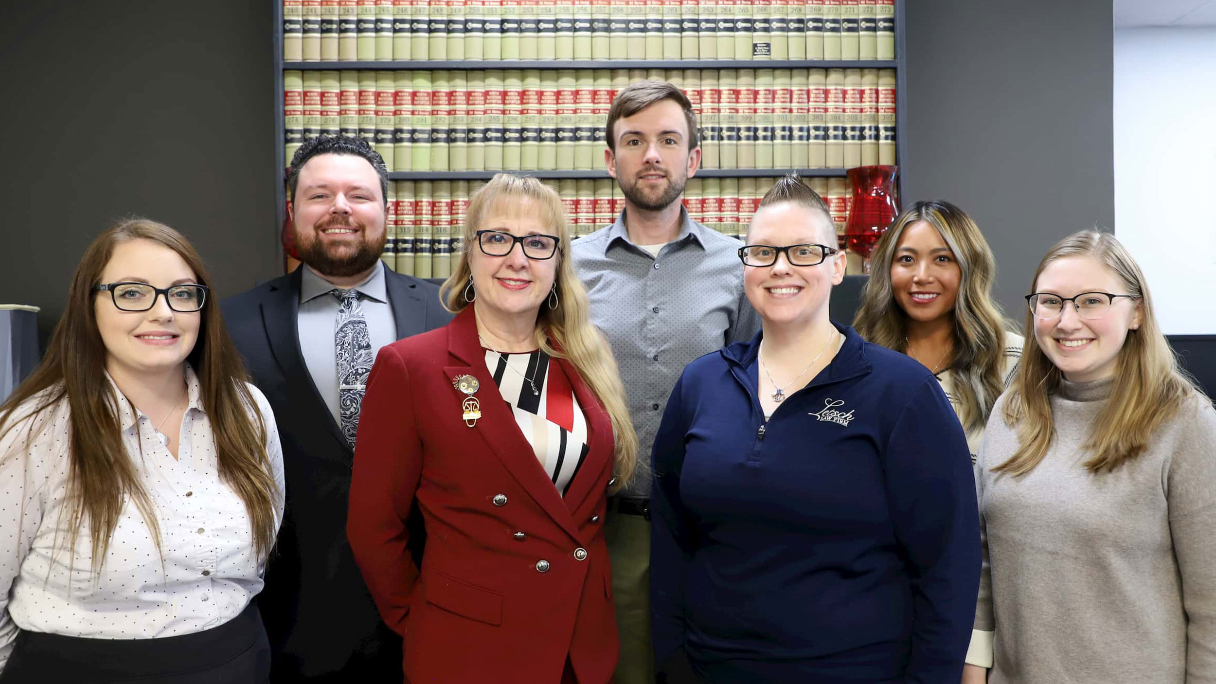 Team picture of the team at Letsch Law Firm.