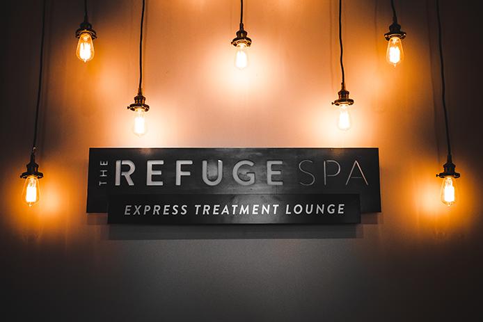 the refuge spa express treatment lounge