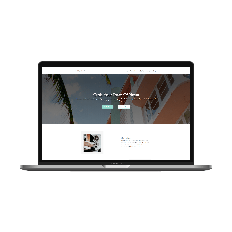 Miami Cafe Web Design Example