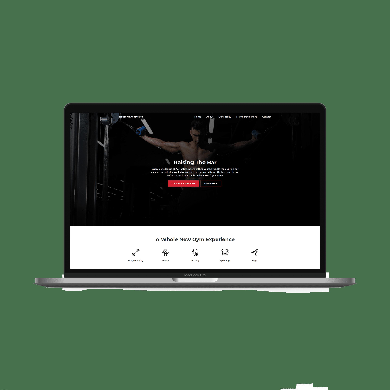 Local Gym Web Design Example