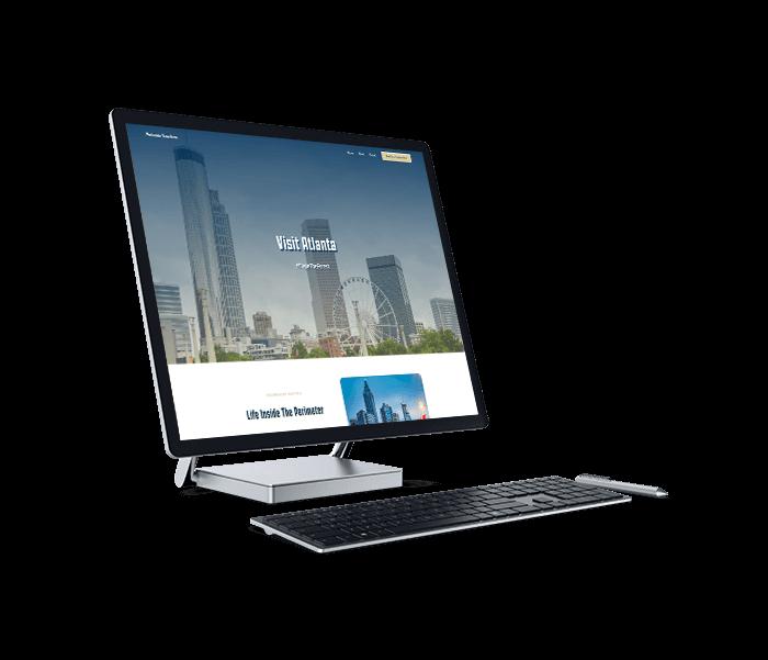 Channel Society's Web Design for an Atlanta Travel Website