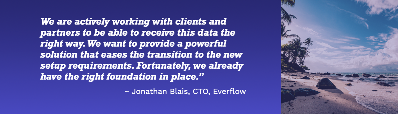 Quote from Jonathan Blais, CTO of Everflow, on next steps.