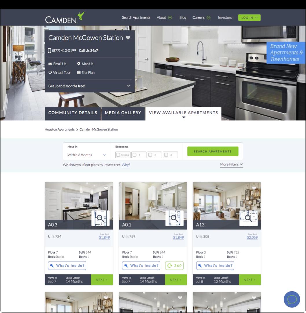 Camden Website