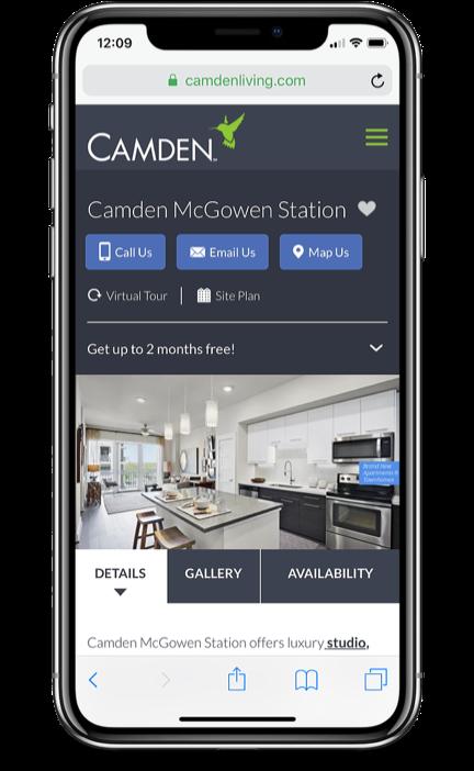 Camden Mobile Site