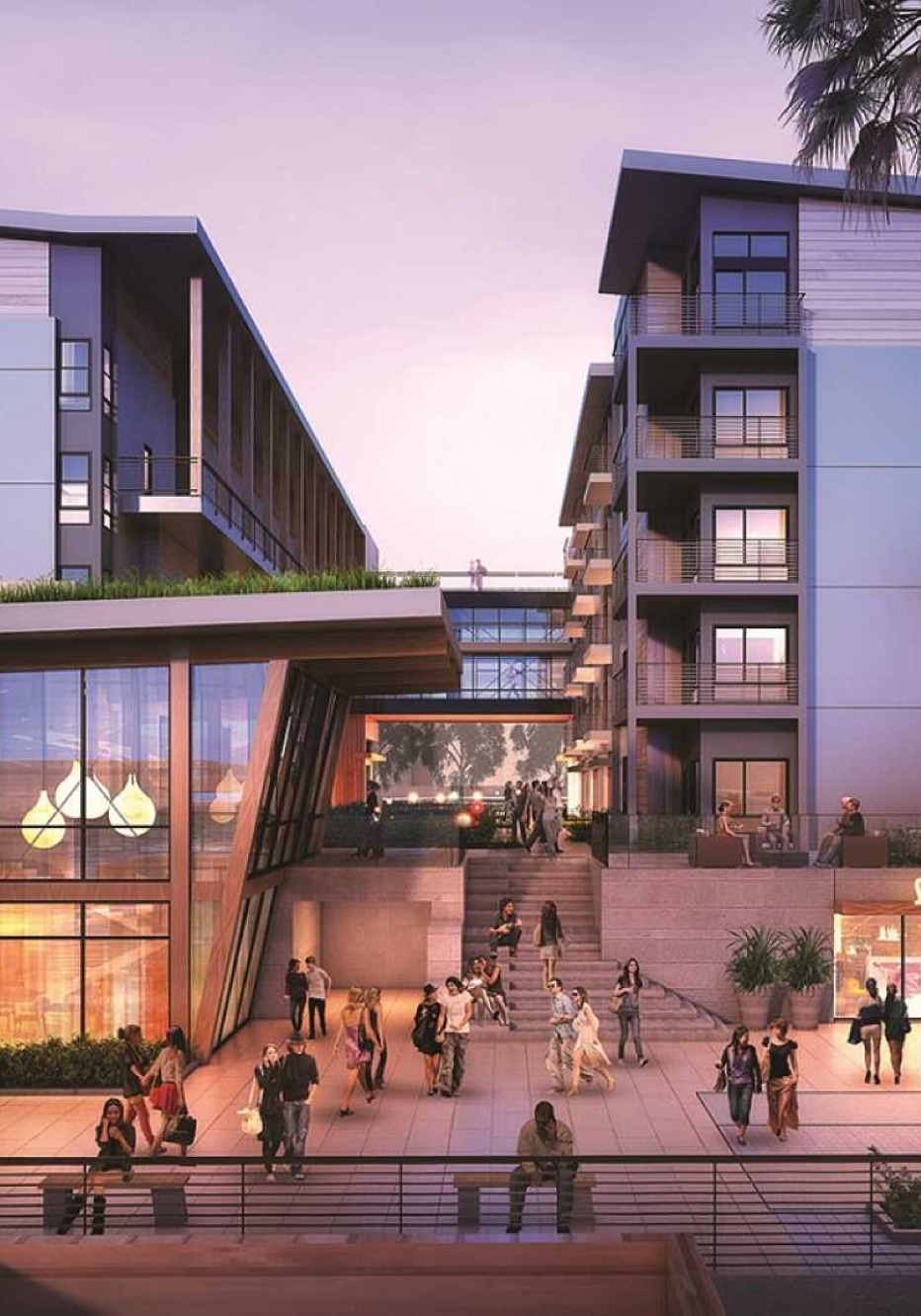 Modern apartments and retail