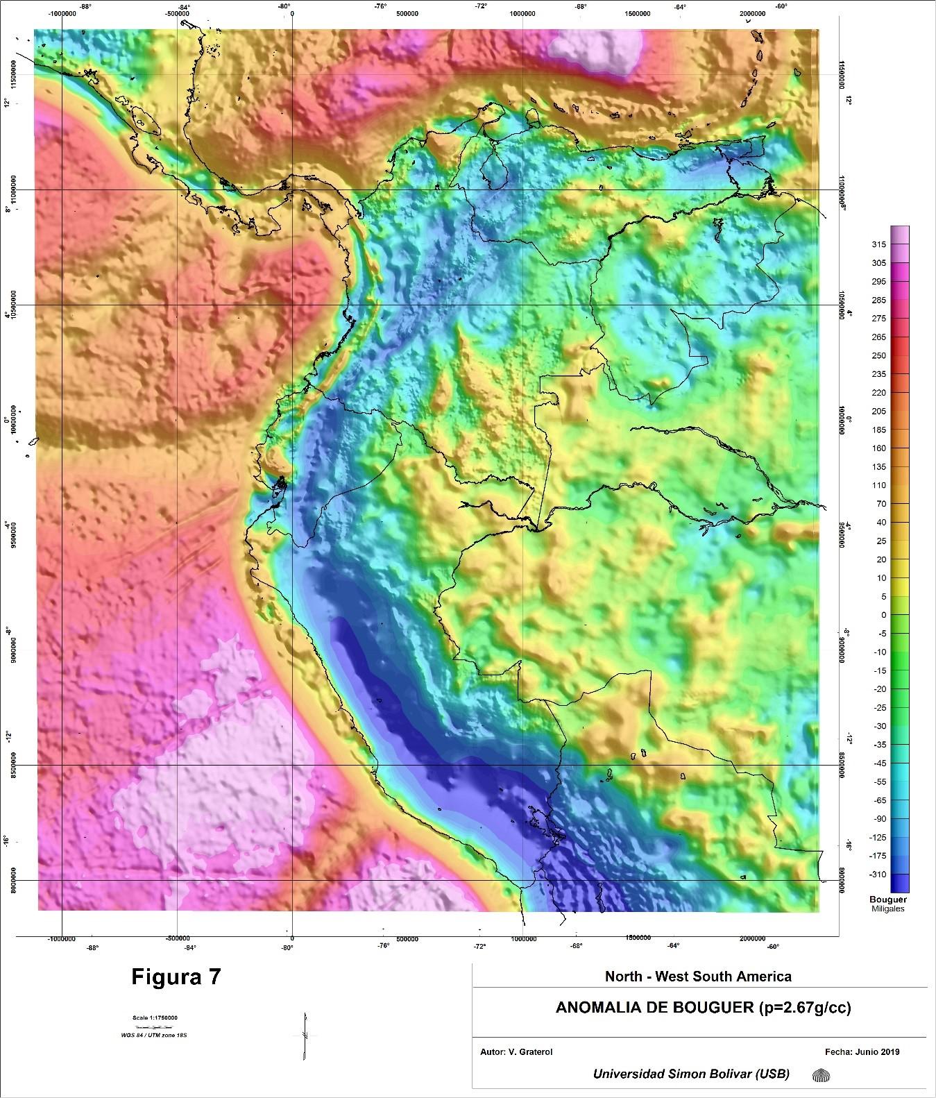 Interpretación de la base de datos gravimétricos y aeromagnéticos del noroeste de Sudamérica y área circundantes