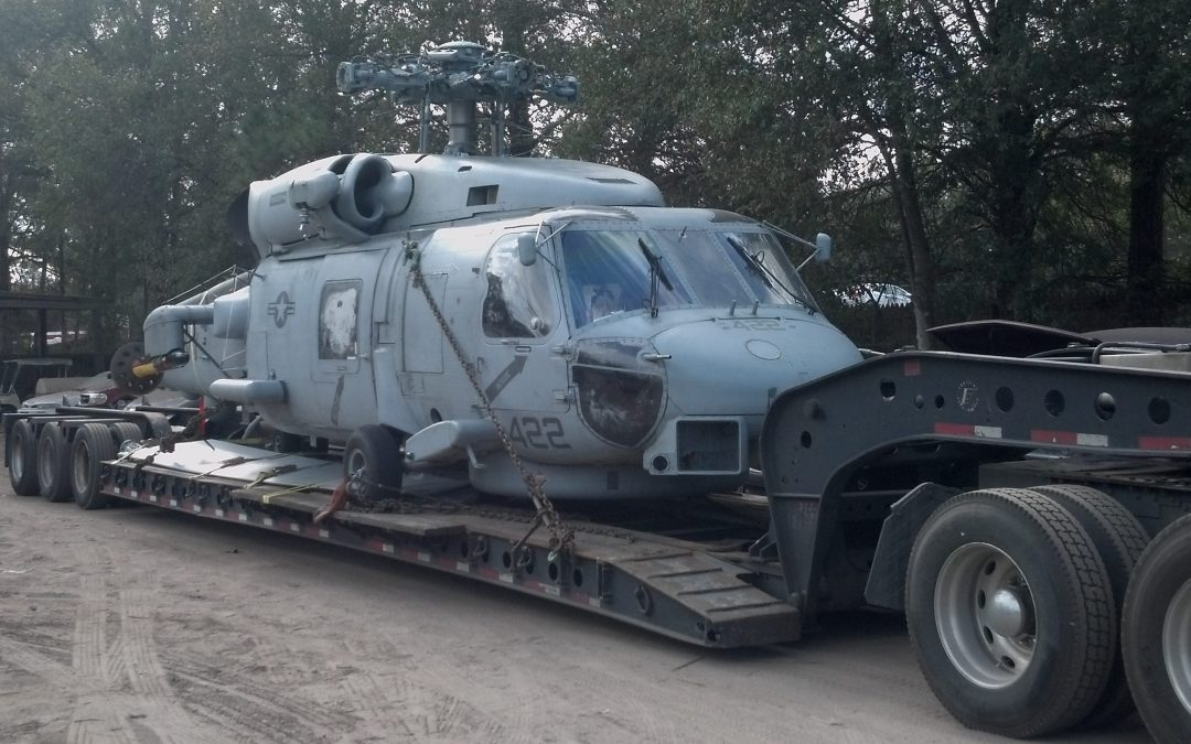 Hauling Sikorsky SH-60 Seahawk for the US Navy
