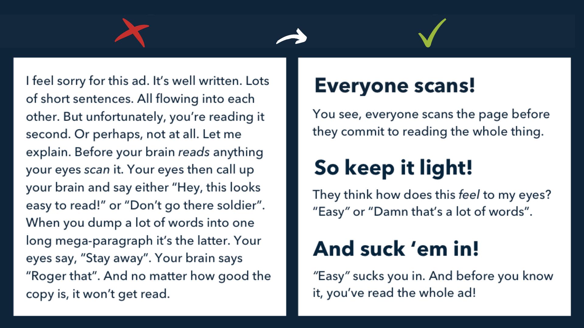 Hvorfor vinner innhold som kan skannes? 5 tips for å gjøre teksten din lettere å lese på nett