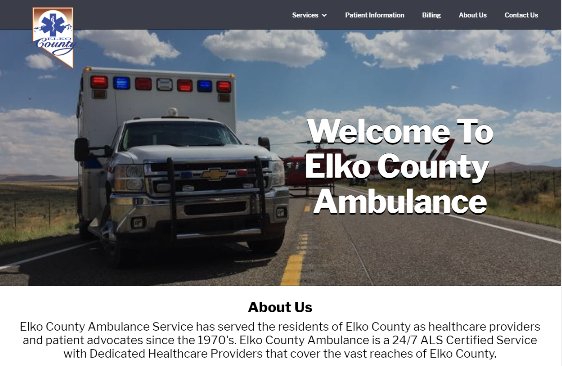 Picture of Elko Ambulance Website