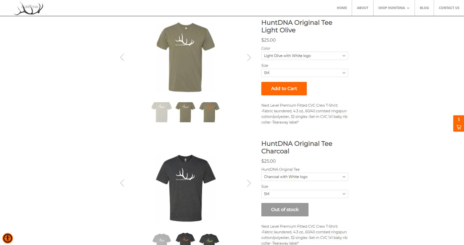 Picture of HuntDNA Website