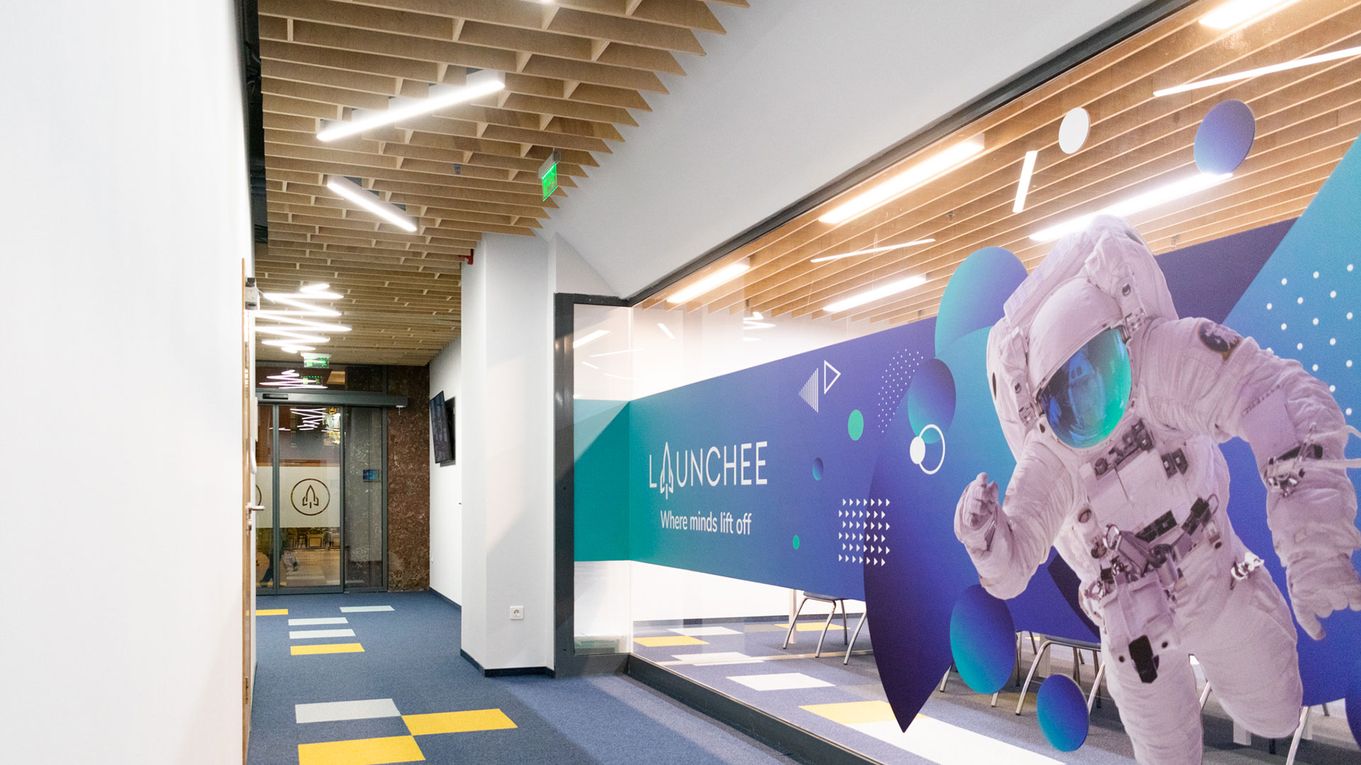 Launchee's space from inside