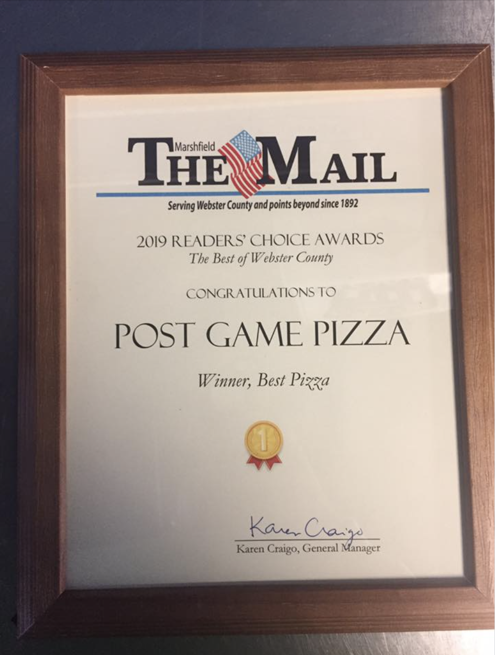 Voted Best Pizza for the third year!