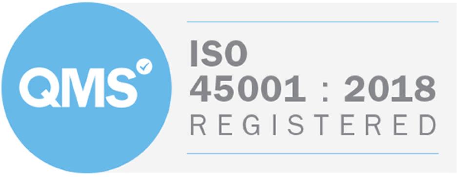 QMS ISO 45001 : 2018 Registered