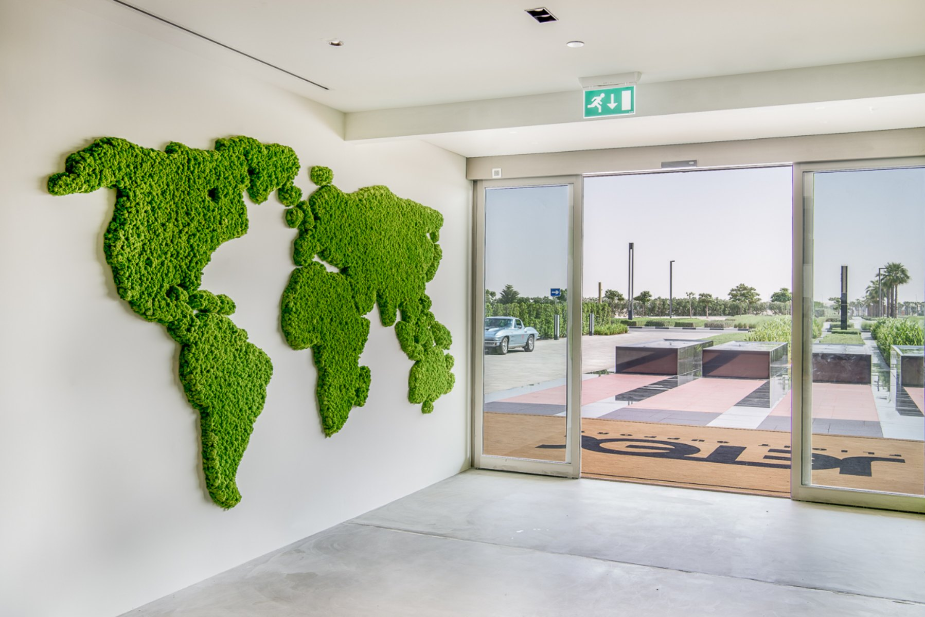 World Map made of Moss from Planters