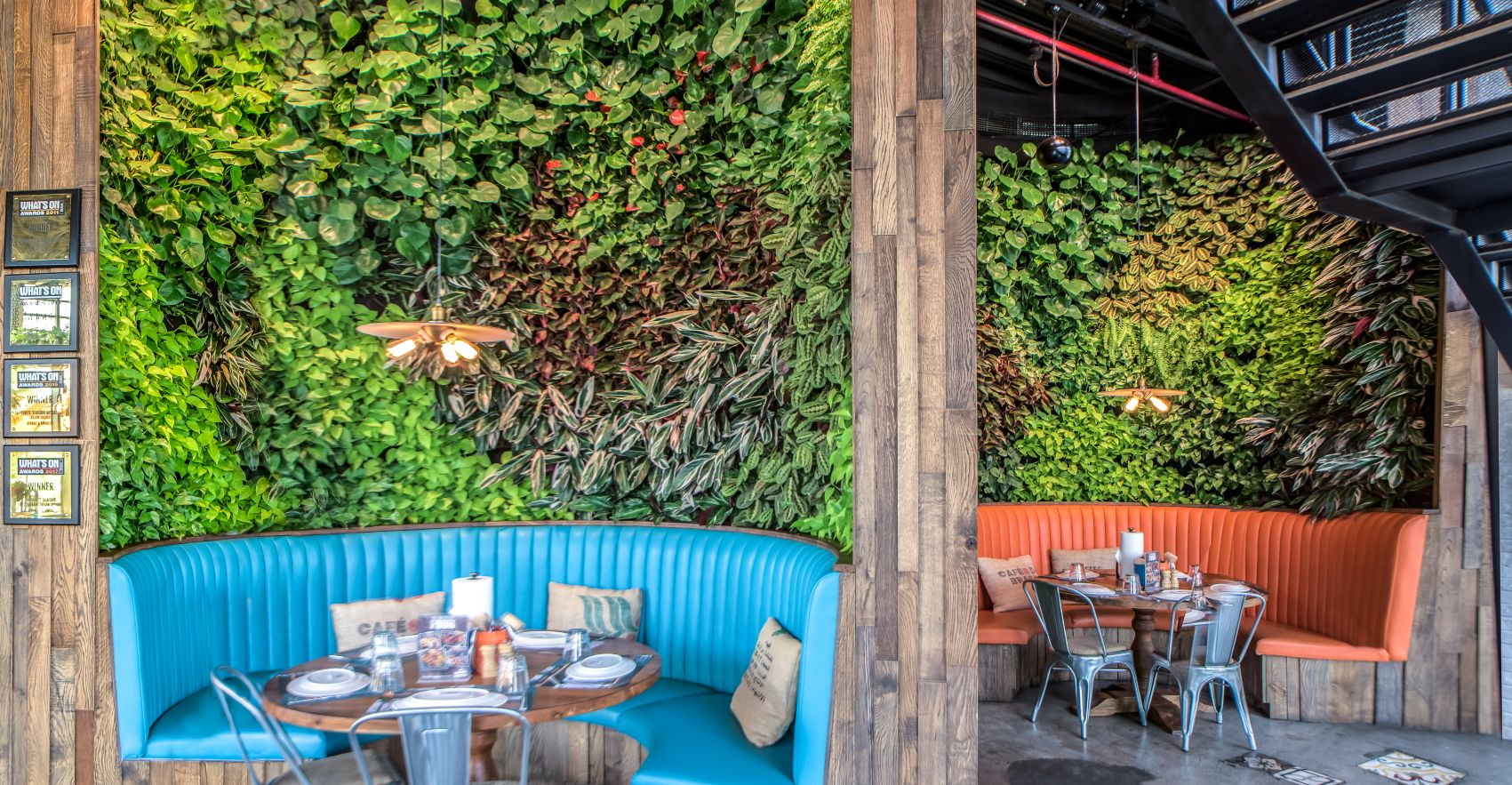 Green Wall Restaurant Installation from Planters