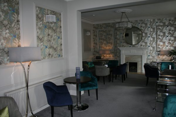 Newly furbished lounge at the Hotel Collingwood in Bournemouth