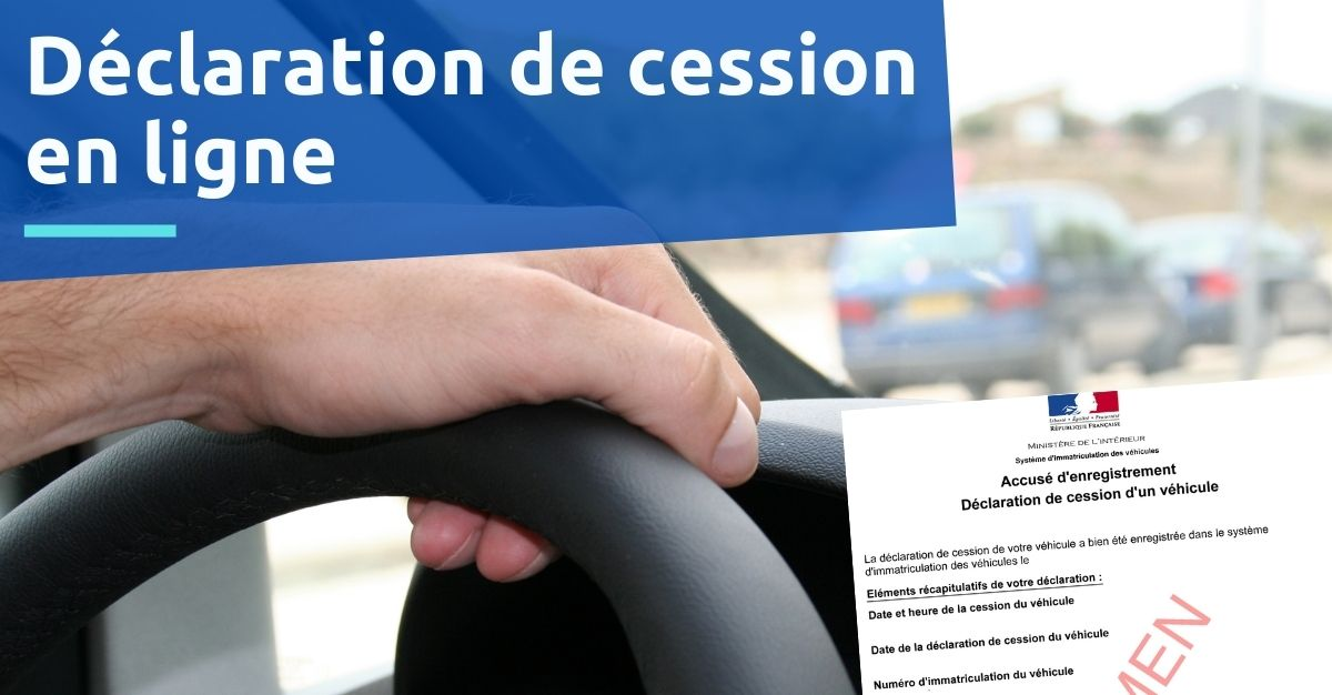 déclaration de cession par internet