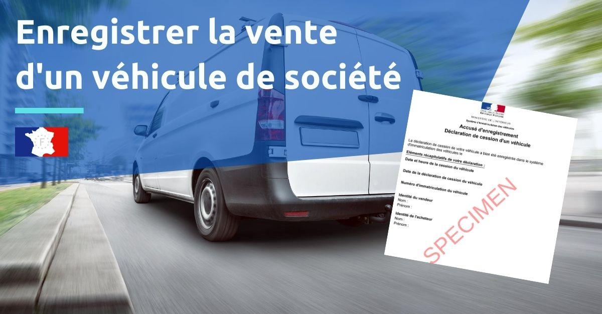 enregistrer vente vehicule societe