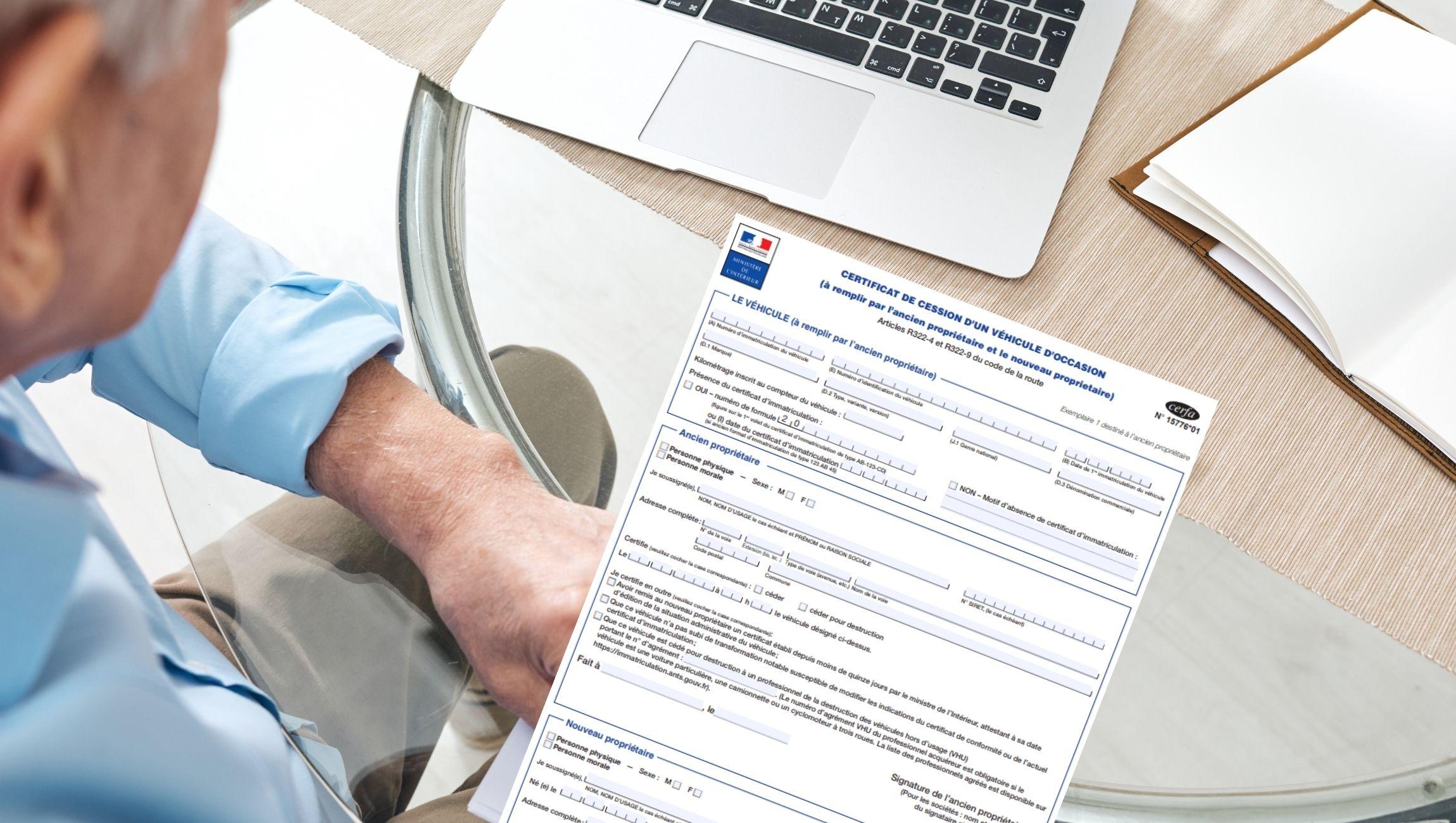 Certificat de cession pdf à remplir  (Cerfa n°15776*01)