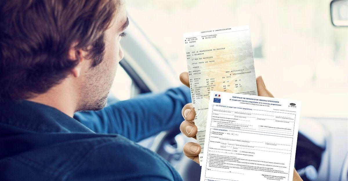 Certificat / déclaration de cession avec ou sans carte grise