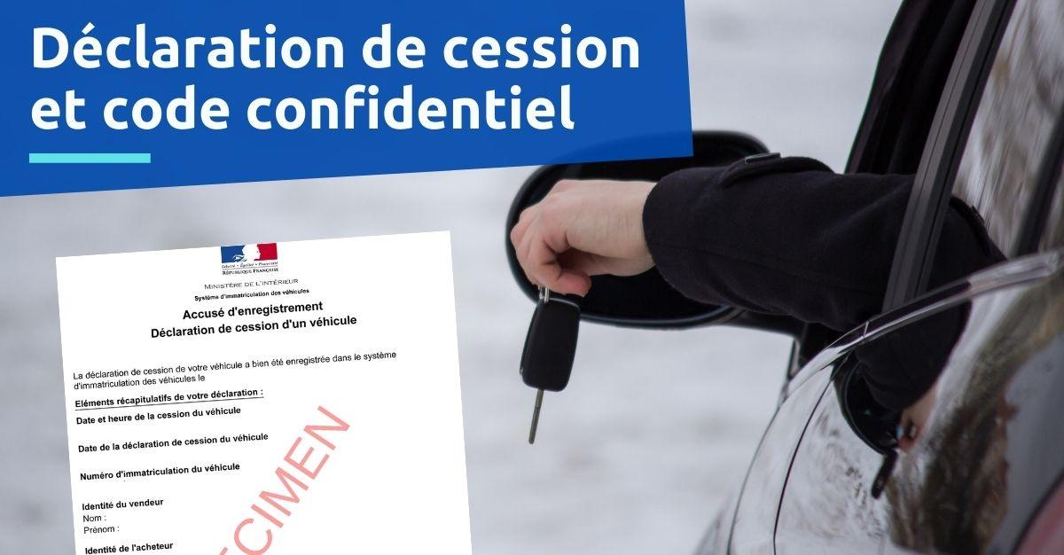 certificat de cession code confidentiel
