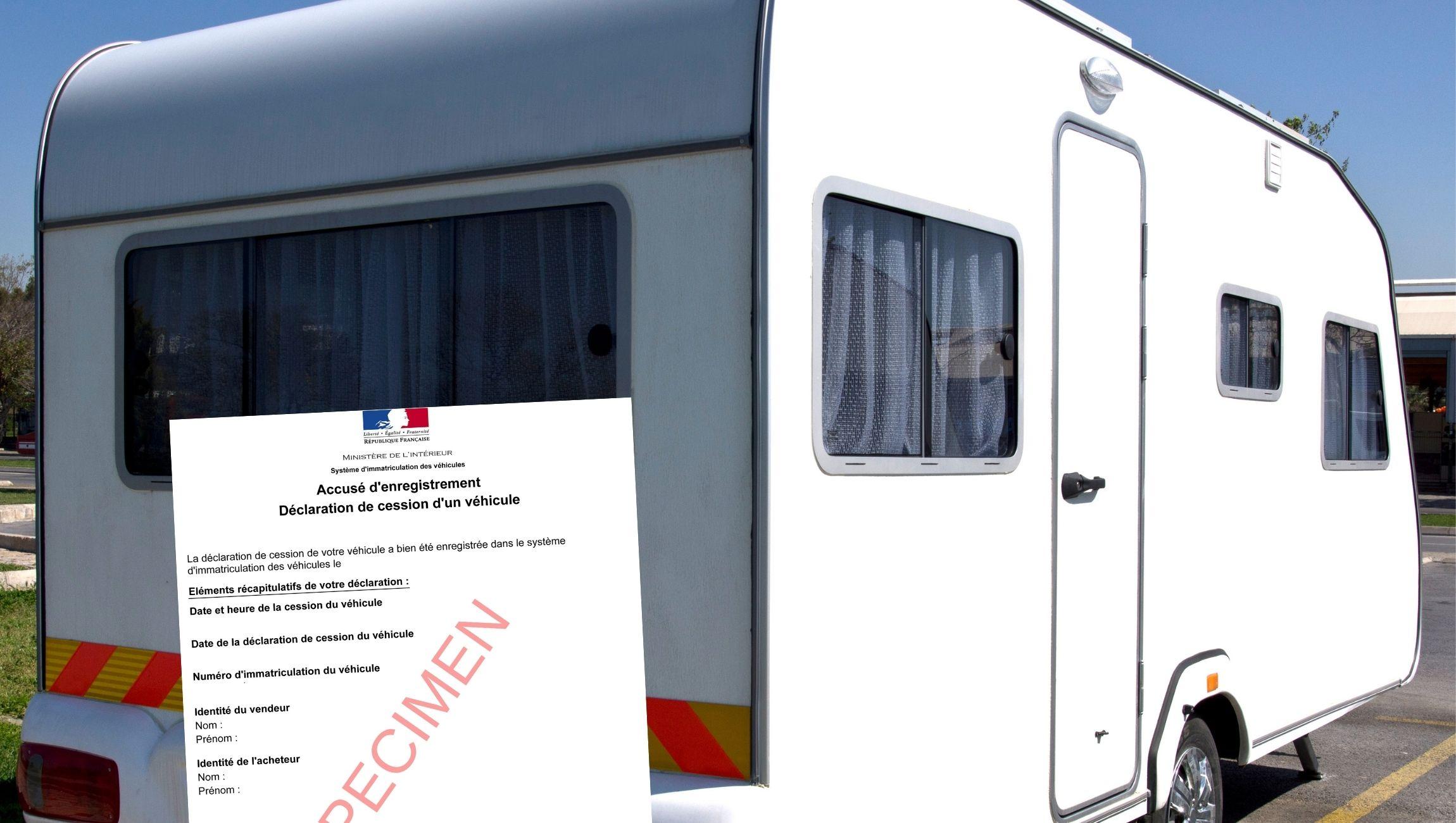 Certificat de cession caravane