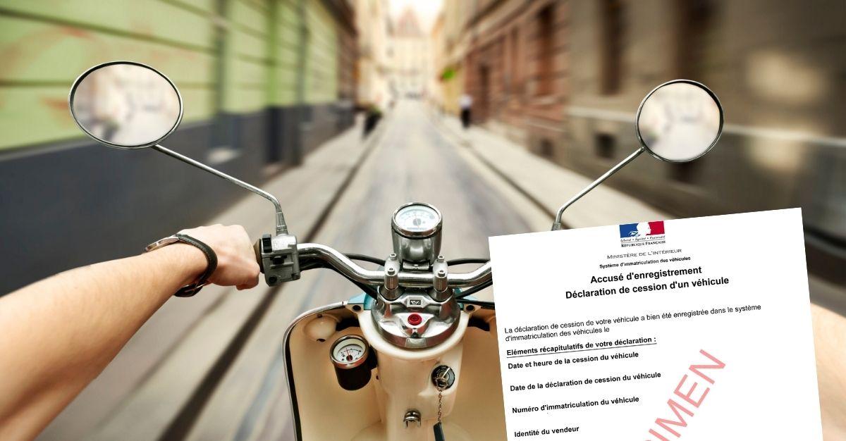 Certificat de cession scooter 50 cc / cyclomoteur / 2 roues