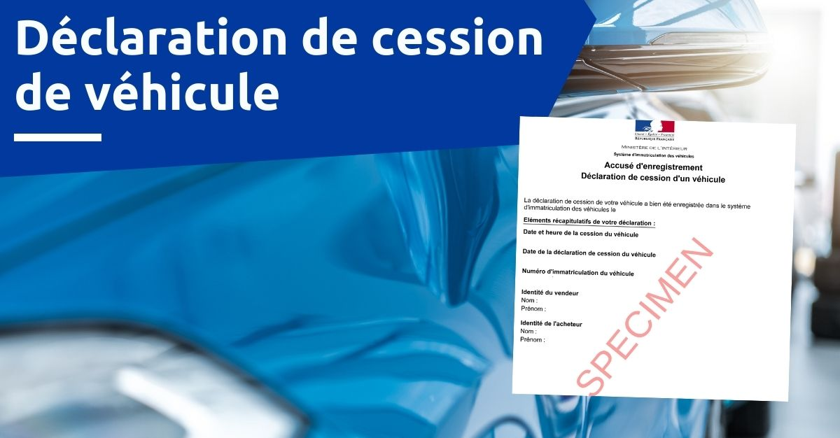 certificat de cession de véhicule