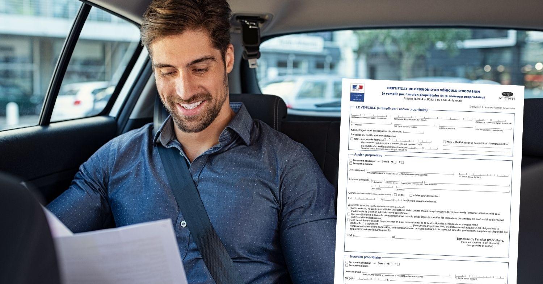 Certificat de cession numéro de formule