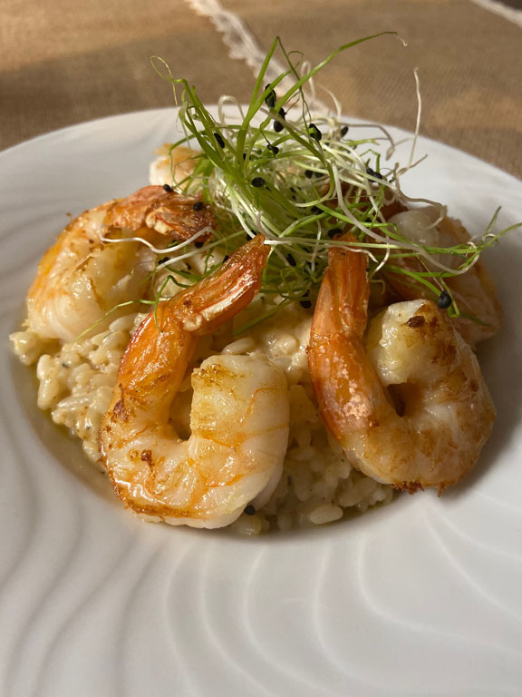 Assiette de gambas - Shrimps