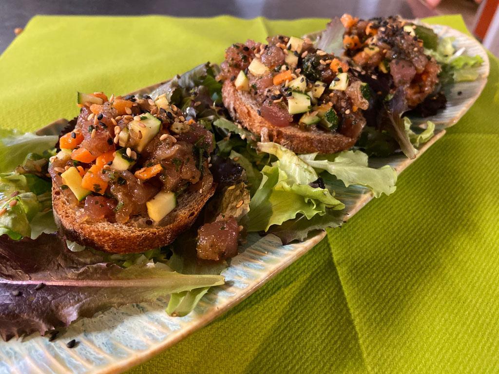 Tartine au thon - Bread and tuna