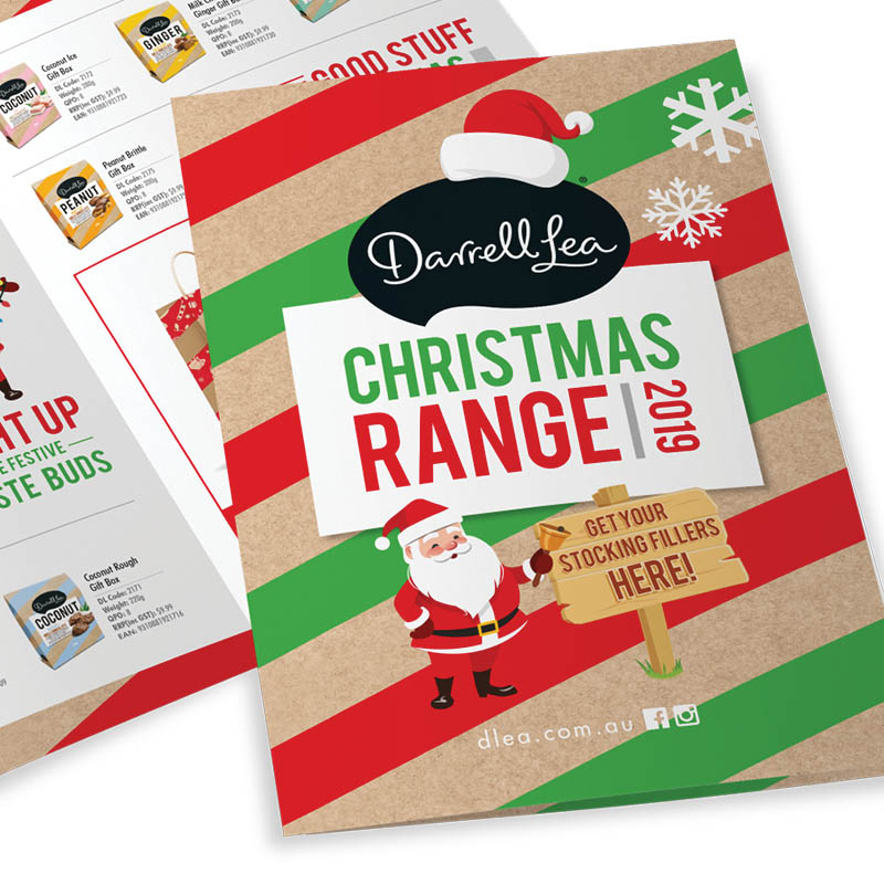 Darrell Lea Christmas Marketing Material