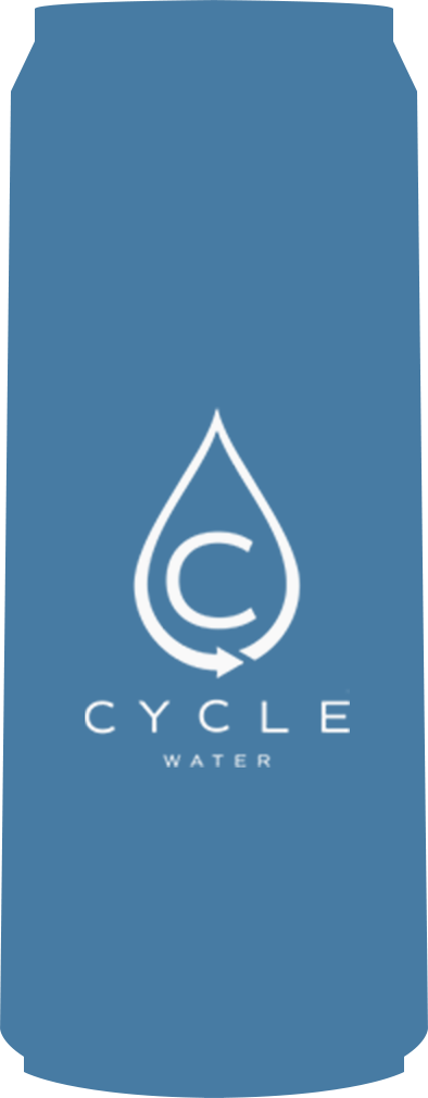 cycle water can blue filled image