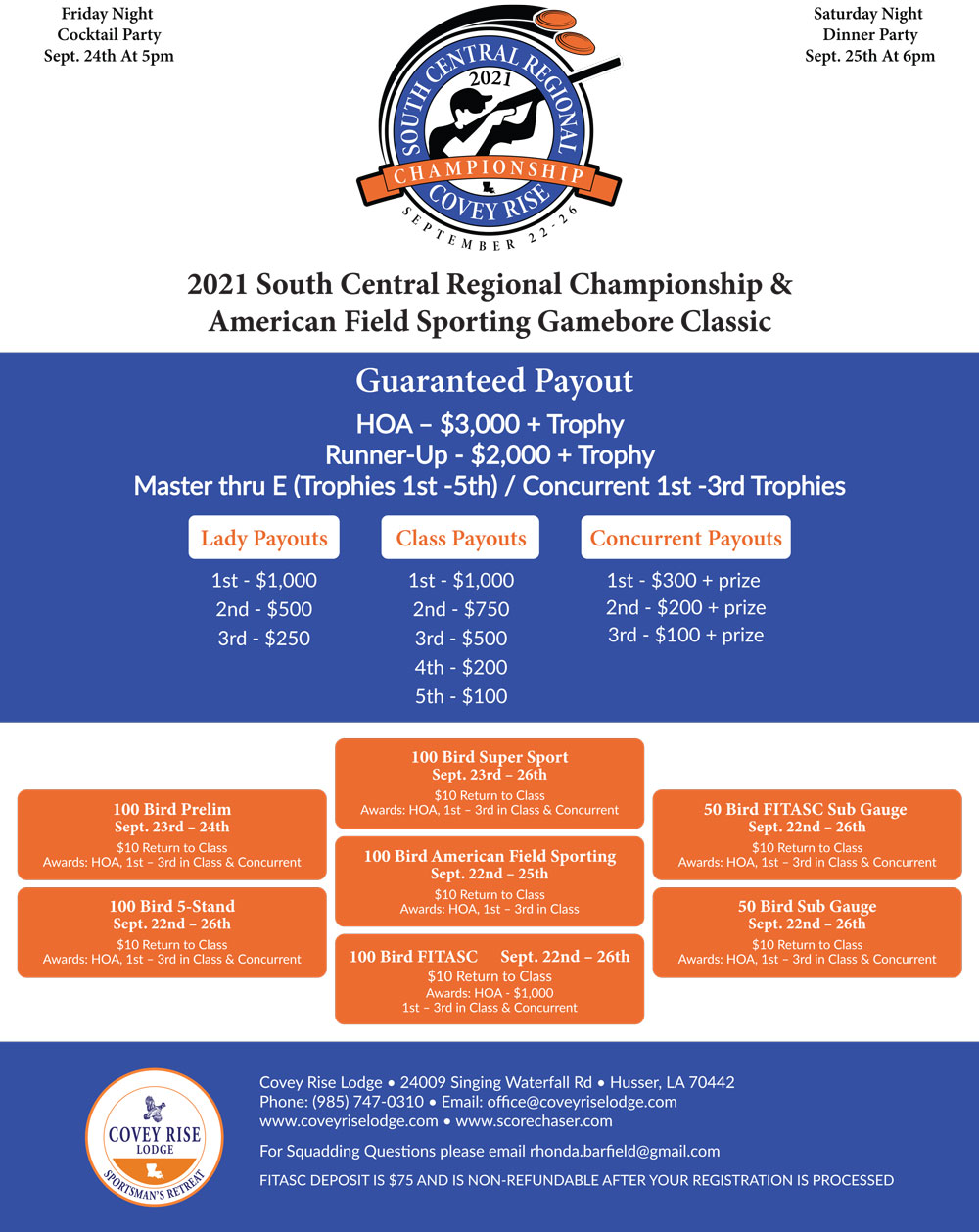 Southcentral Regional Championship Event Flyer