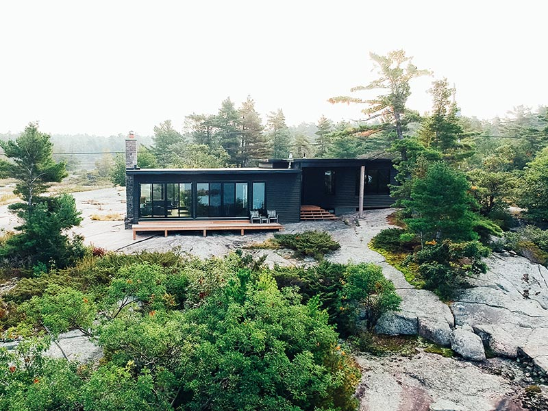 Cottage on a Rock Face