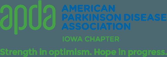 American Parkinson Disease Association Iowa Chapter logo linking to the associations website