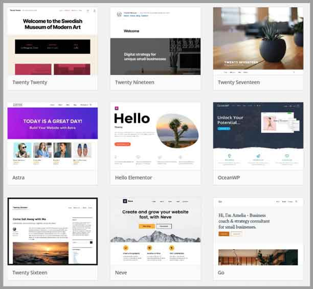 wordpress template themes