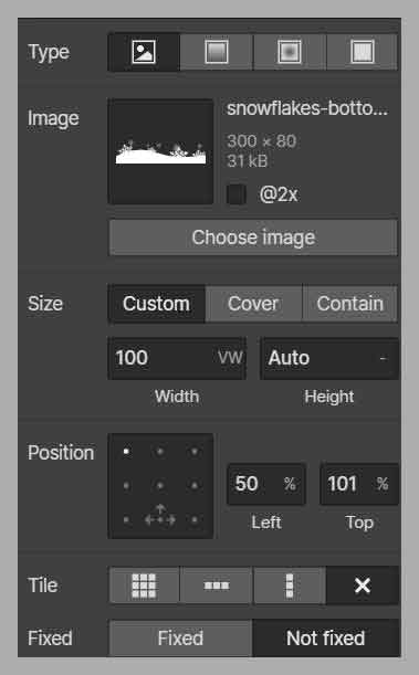shape divider settings