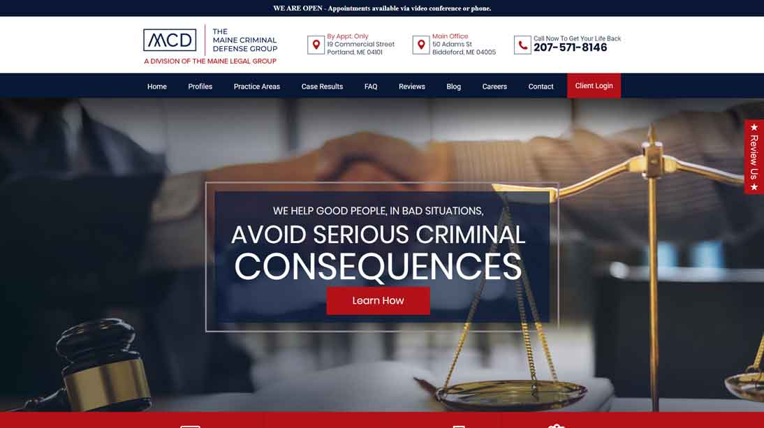 attorney homepage example website 6