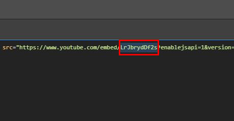 YouTube Video ID