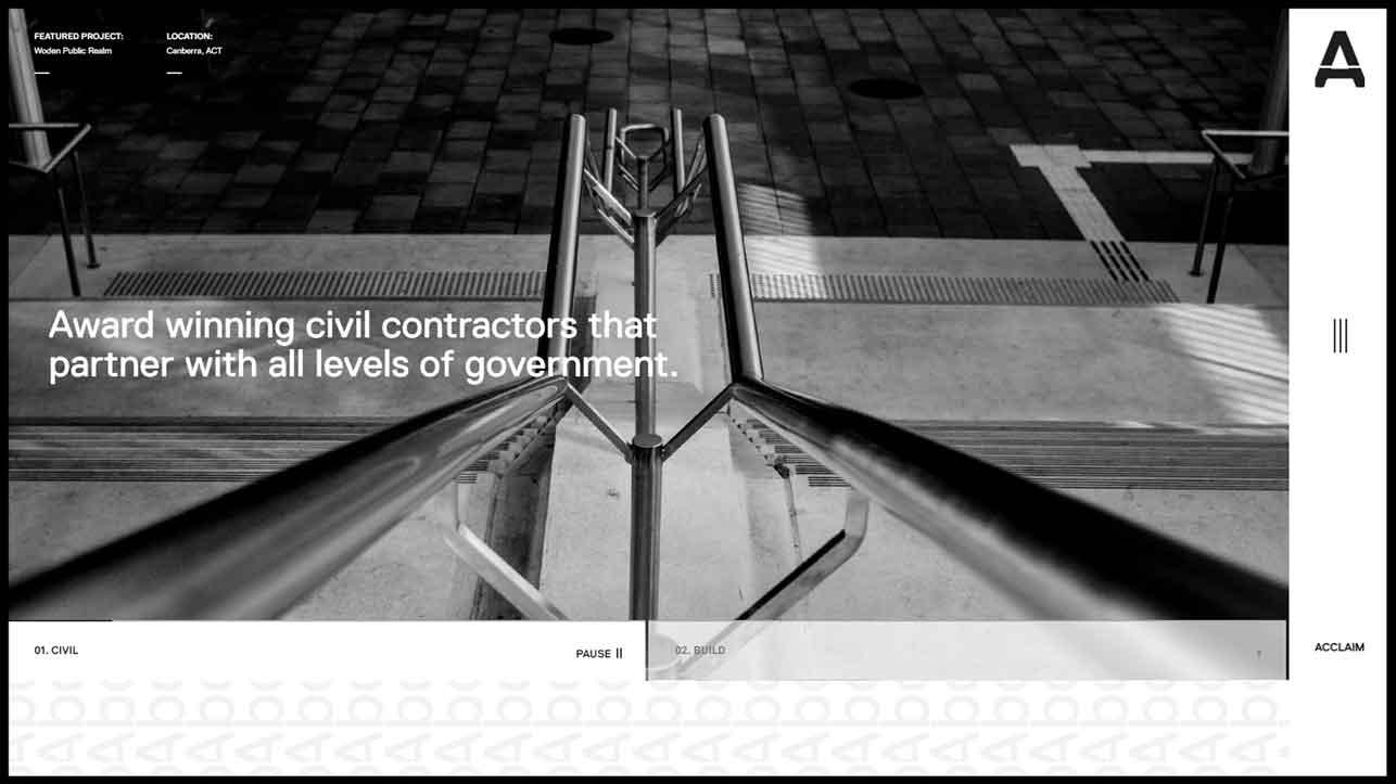 Acclaim Contractor Website